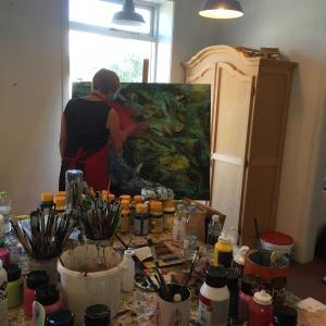 Malekursus i det abstrakte maleri