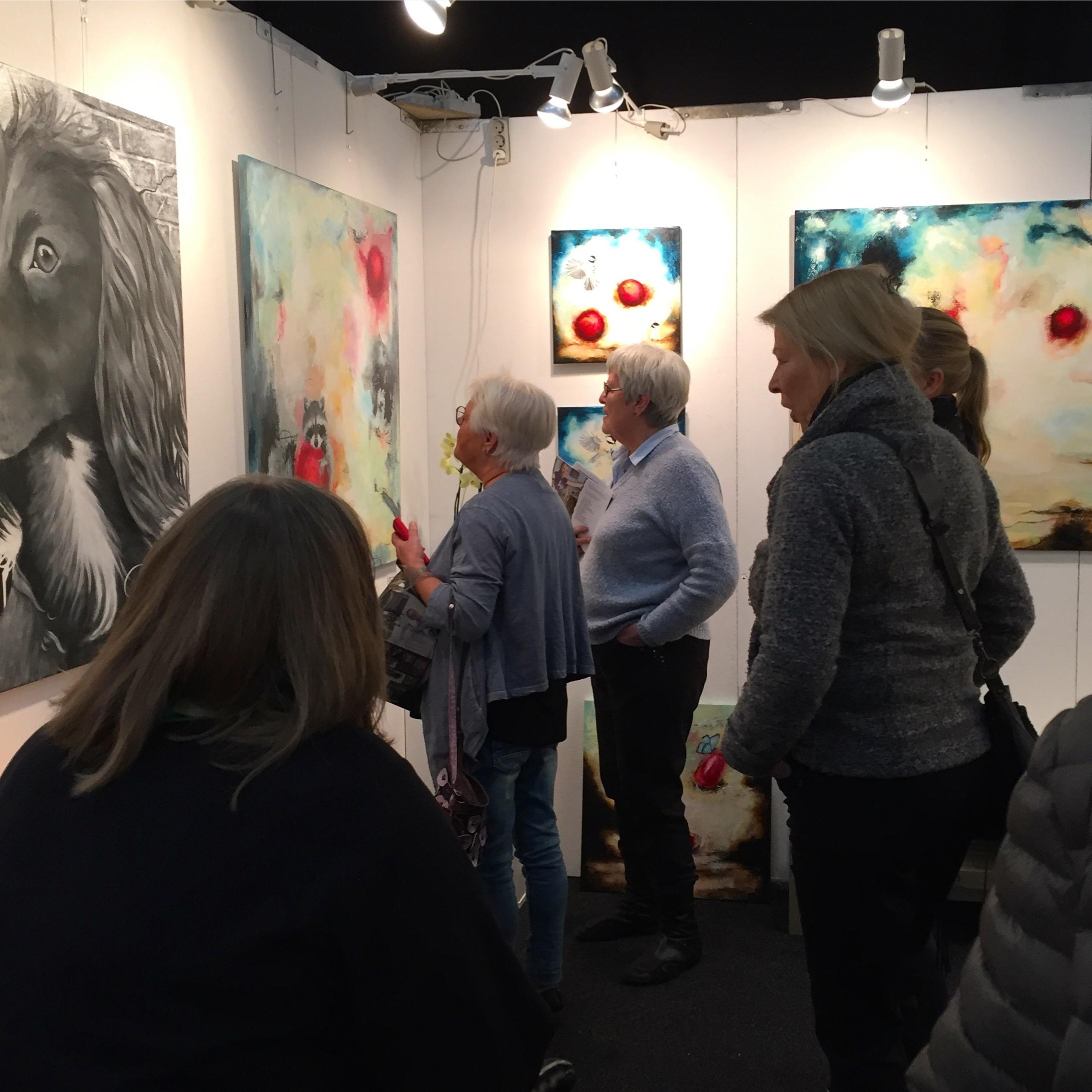 Kunst udstillingpå Hillerød kunstdage 2017